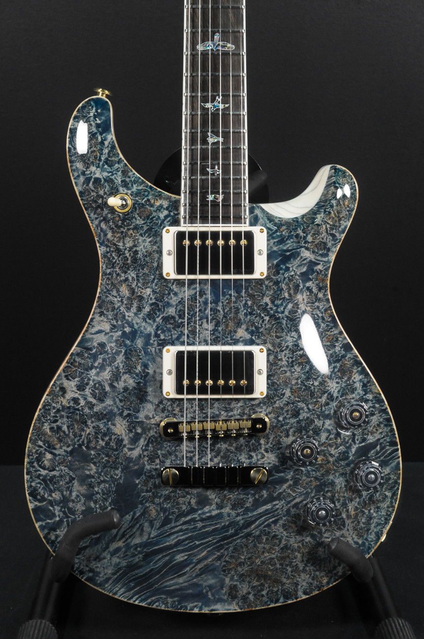 HOLD - Paul Reed Smith Private Stock McCarty 594 Faded Indigo - Brazilian Rosewood/1-piece Burl Maple Top - Swamp Ash Back #8495